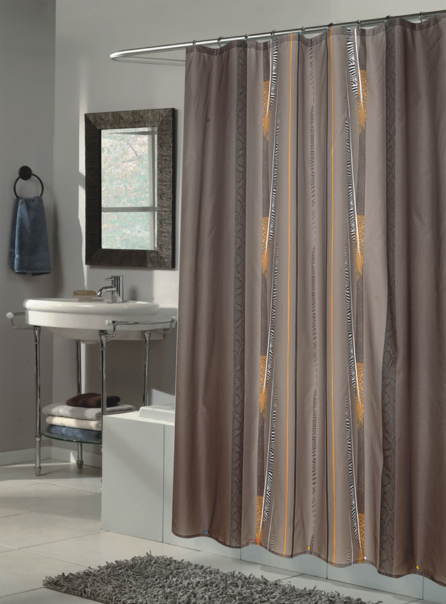 extra long grey shower curtain.  Catherine Extra Long Fabric Shower Curtain Size 70 wide x 84 Carnation Home Fashions Inc Curtains