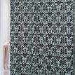 Damask Fabric Shower Curtain, Brown-Blue