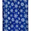 """Snow Flake"" Fabric Shower Curtain"