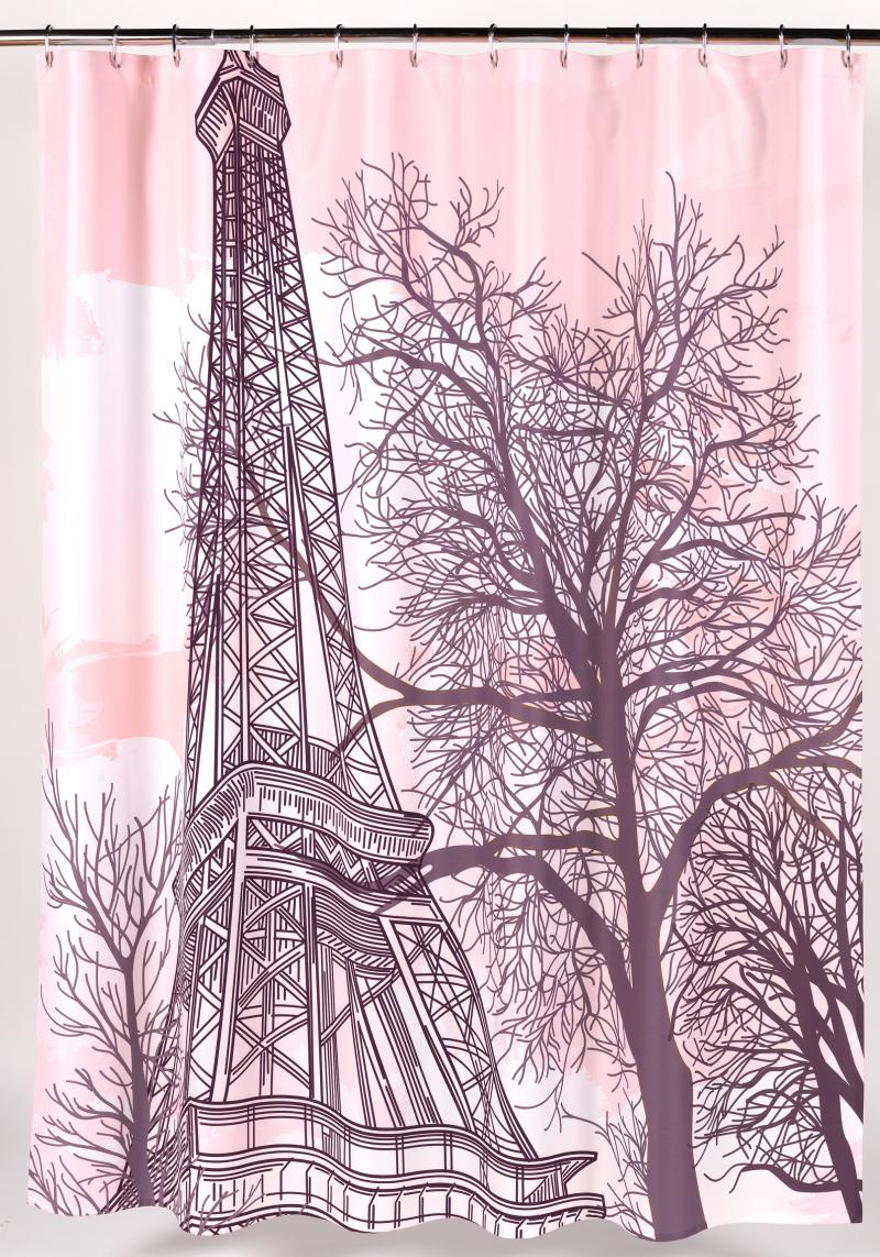"""Tour Eiffel"" Fabric Shower Curtain"