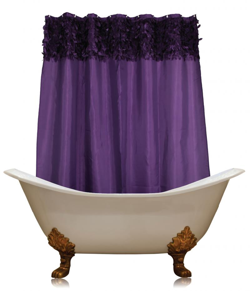 Carnation Home Fashions Shower Curtain Purple Shower Curtain