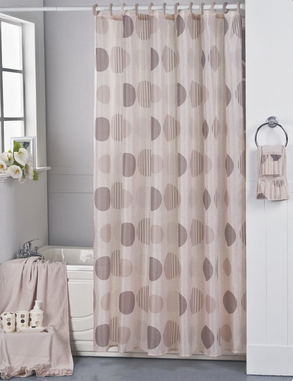 Carnation Home Fashions Inc Fabric Shower Curtains