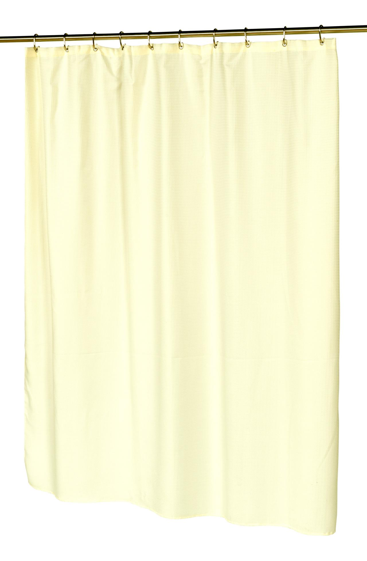 hotel collection fabric shower curtain waffle weave w
