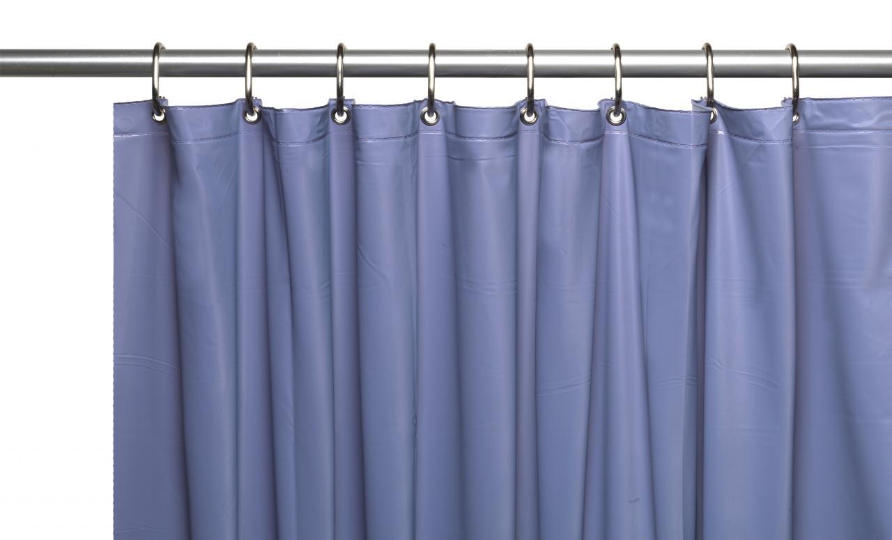 Carnation home fashions inc 10 gauge vinyl shower for Bathroom liner