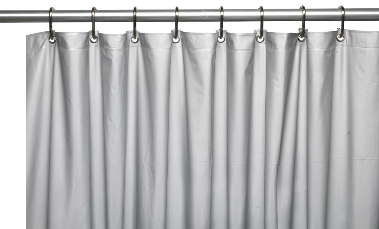 ... Hotel Collection, 8 Gauge Vinyl Shower Curtain Liner W/ Weighted Magnets  And Met ...