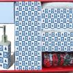 """Blue Spruce"" 16 Piece Bath Set"